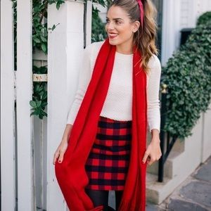 Plaid gingham skirt